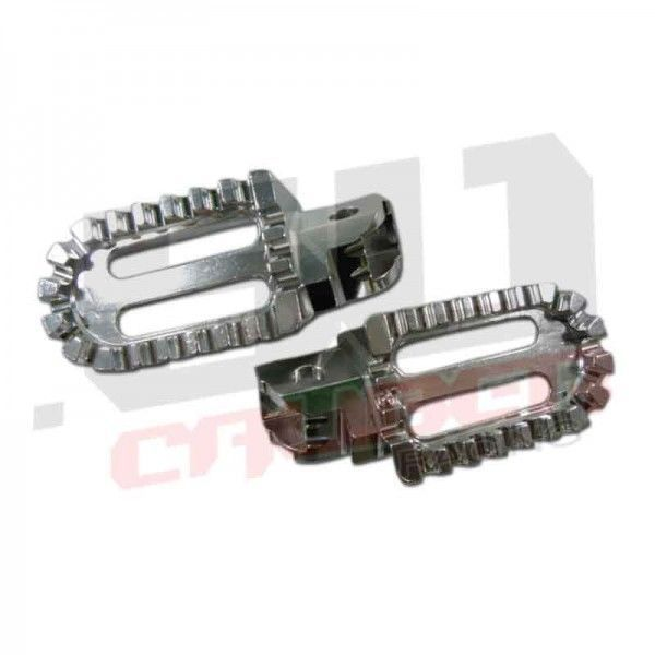 Silver Oversized Foot Peg Aluminum Honda Pit Bike Universal CRF XR 50 ATV 50 Cal #50CaliberRacing