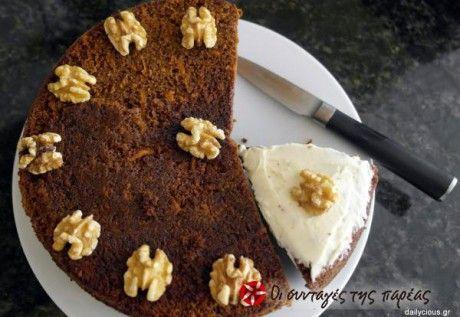 Κέικ καρότου με γλάσο τυριού (Carrot Cake)