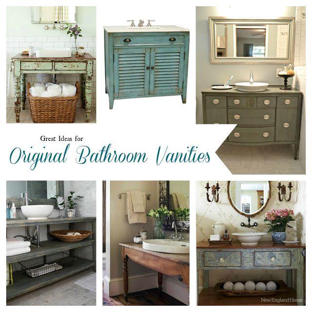 Bathroom Inspiration ~ Open Shelf Vanities
