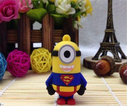 #Usb #Mignions  New-4GB-Cute-cartoon-superhero-dolls-model-USB2-0-Flash-Memory-stick-Pen-Drive