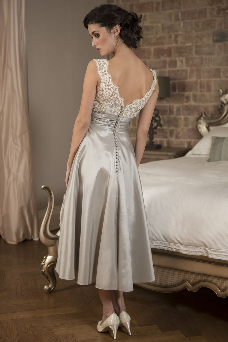 30 best tea length bridesmaid dresses images on pinterest tea true bridesmaid m572 sassy t length bridesmaid dress with pretty beaded lace bodice and ombrellifo Images