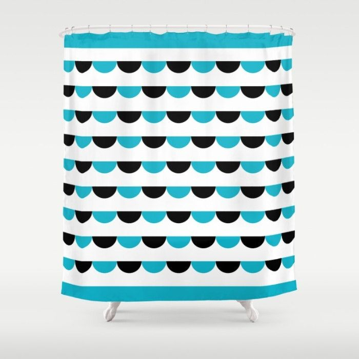 Nordic Funfair Shower Curtain, Modern Scandinavian style geometric pattern bathroom shower curtains, Nordic style pattern bathroom decor by ThingsThatSing on Etsy