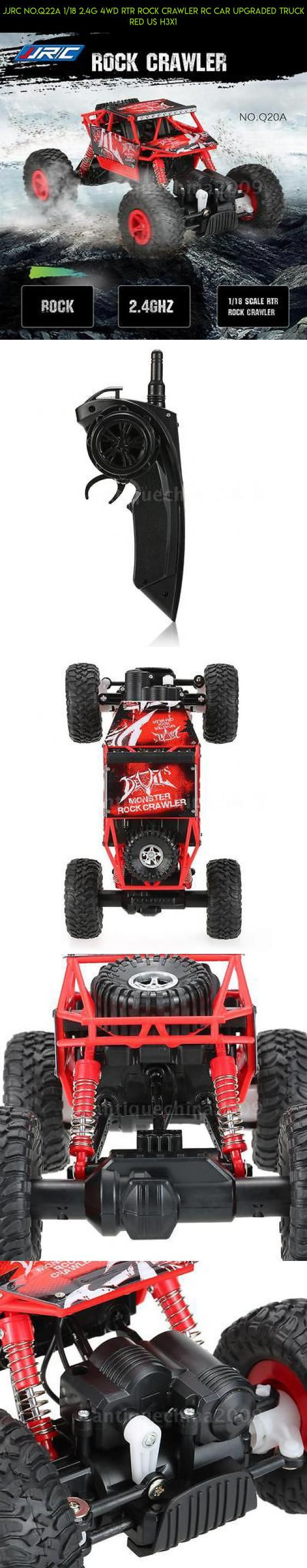 JJRC NO.Q22A 1/18 2.4G 4WD RTR Rock Crawler RC Car Upgraded Truck Red US H3X1 #gadgets #jjrc #fpv #shopping #drone #crawler #parts #racing #plans #products #technology #tech #rock #kit #camera