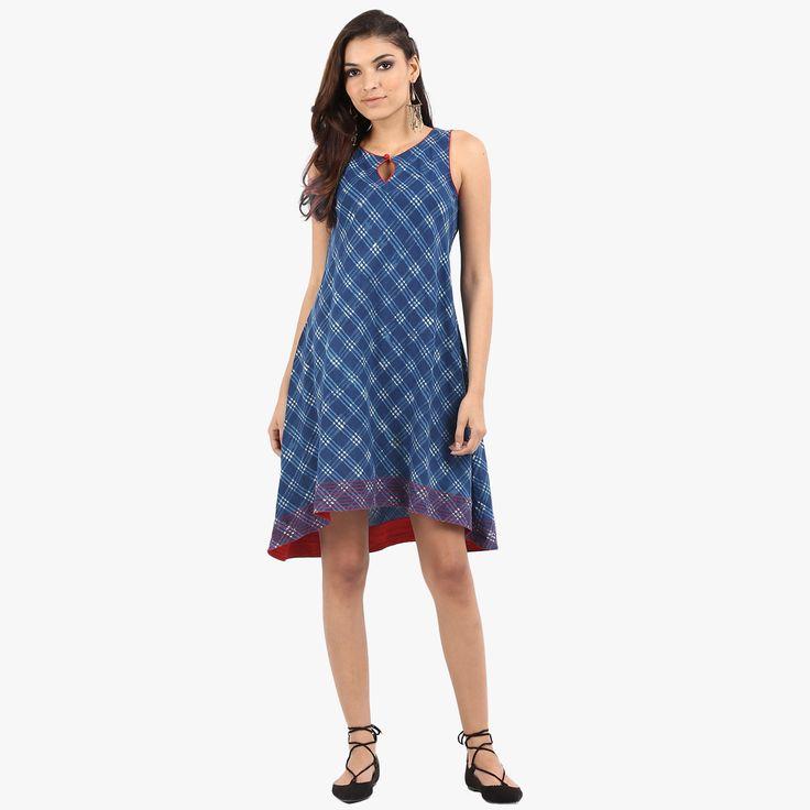 Irsia Printed Asymmetrical Dress