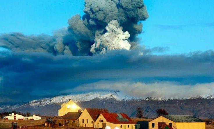 Vulkanudbrud på Island.