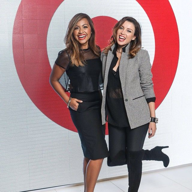 The gorgeous @danniiminogue and Jess Mauboy at the VAMFF #TargetRunway #DanniiforTarget