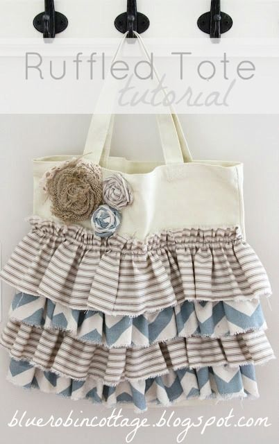 [ruffled%2520tote%2520tutorial%255B4%255D.jpg]: Craft, Tote Tutorial, Ruffle Tote, Tote Bags, All, Canvas Tote