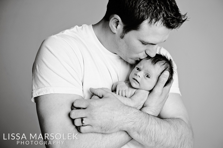 Newborn Baby Girl Photography With Daddy