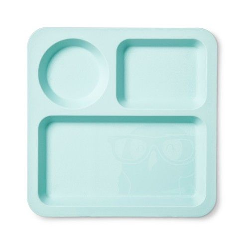The Square Divided Kids Plate from Pillowfort™ is a great solution for picky eaters. This child's divided plate does a great job of keeping different foods from bumping into each other at the dinner table. The plastic divided plate also comes in many different colors so it's easy to find one your child likes. They also include animal images that will help encourage stubborn boys and girls to eat their lunch. After you've protected your child's mashed potatoes from run...