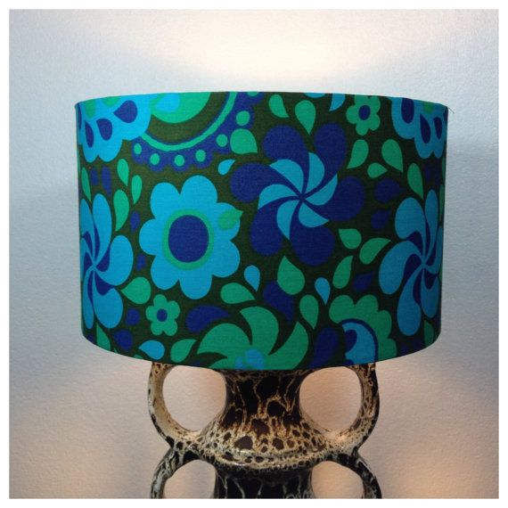 Best 25 large lamp shades ideas on pinterest large lamps luck large lamp shade handmade from original vintage psychedelic fabric mozeypictures Choice Image