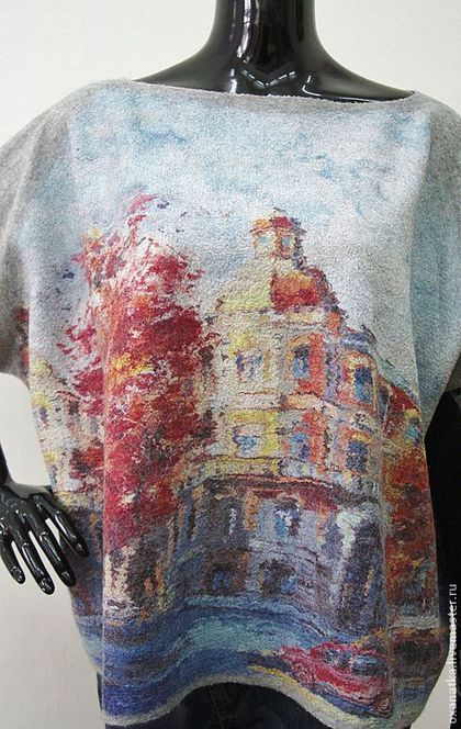 Кофты и свитера ручной работы. Валяный свитер Римские каникулы. FeltOx ( Оксана Ткаченко). Ярмарка Мастеров. Принт