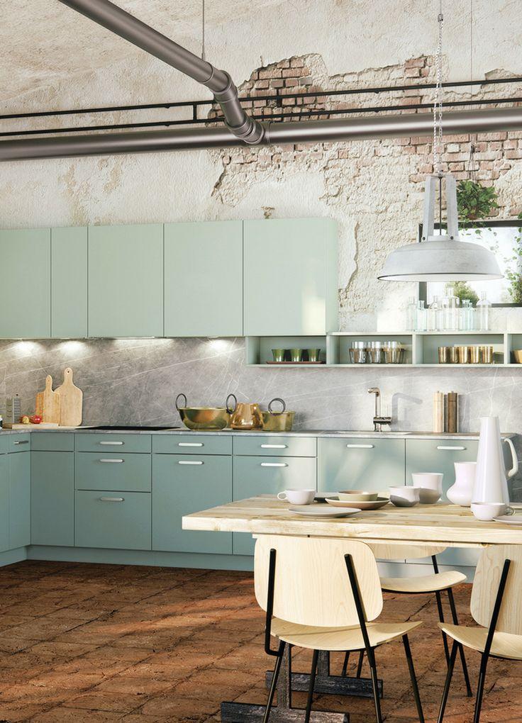 Mer enn 25 bra ideer om Küche türkis på Pinterest - küchenzeile kleine küche