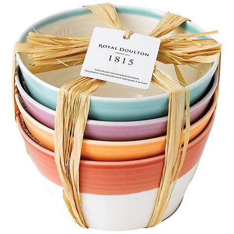Buy Royal Doulton 1815 Cereal Bowl, Multi, Set Of 4 Online at johnlewis.com