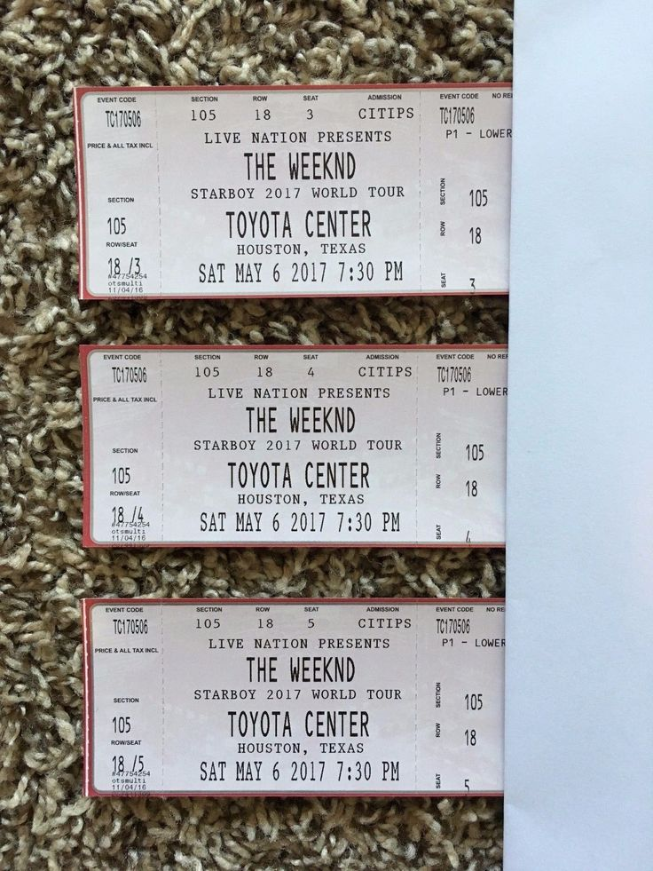 #tickets The Weeknd Houston Texas Toyota Center 3 Concert Tickets Section 105 please retweet