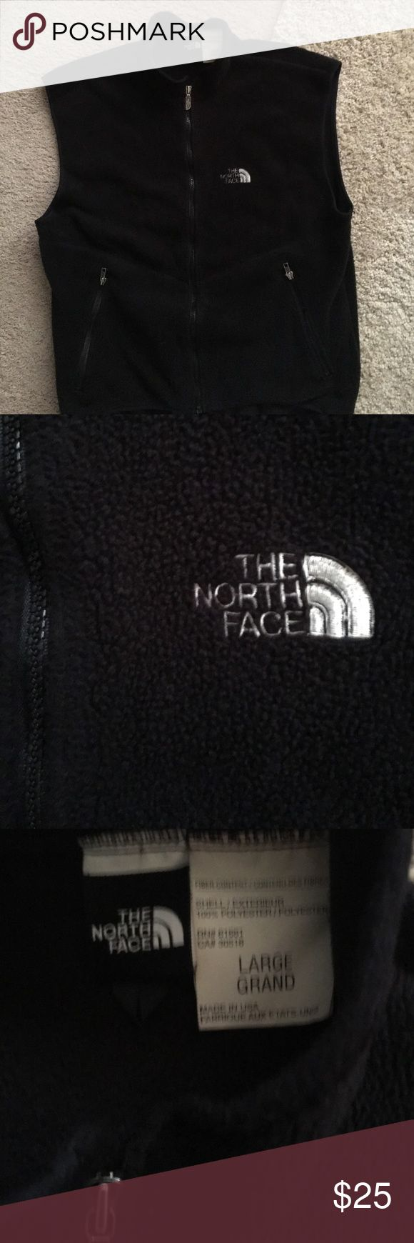North face fleece vest Black fleece North Face Vest Great condition North Face Jackets & Coats Vests