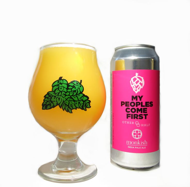 """My Peoples Come First by Monkish Brewing Company and Other Half Brewing Company.  Hops on Hops is a two-color vibrant hop design that is screen-printed and heat-cured onto the snifter beer glass.  Our Hops on Hops IPA and Gose glass boasts a wide bowl and a narrow rim. The design of the beer vessel enhances your craft beer drinking experience by """"funneling"""" the aromas to your nose. These craft beer vessels are capable of accommodating up to 16 ounces of beer from your favorite craft brewery."""