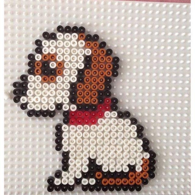 Puppy dog hama beads by hbtvegan