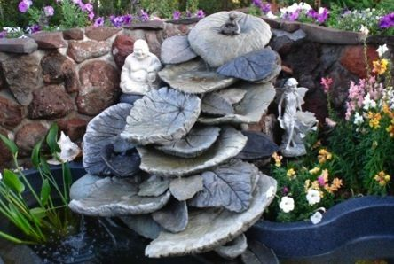 I would love to do something like this.  -  Leaf Shapes for Concrete | ... MUD on our mountain landscape Leaf Rock Art studios came to be