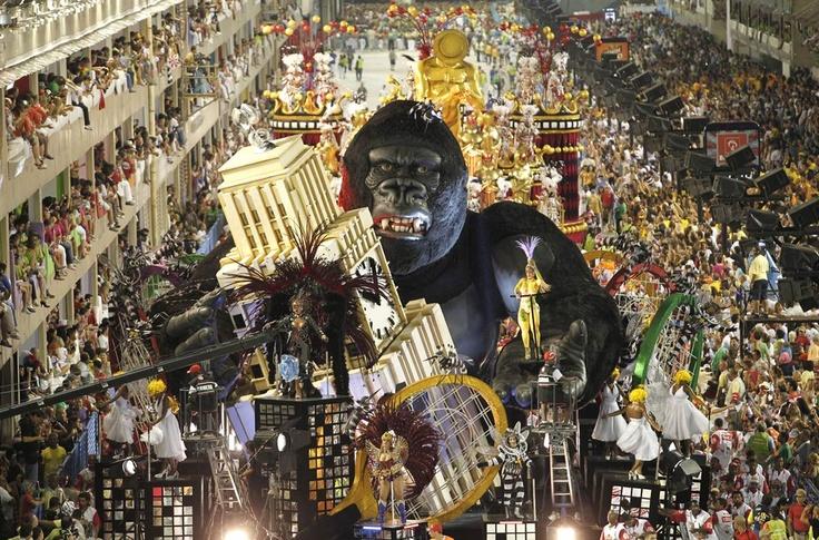 Annual Carnival parade in Rio de Janeiro, Brazil