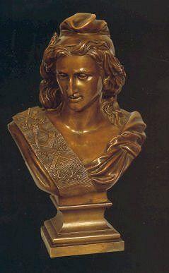 Marianne maçonnique, buste en bronze de Jacques France, 1879. © Musée de la Franc-Maçonnerie (coll. GODF, Paris).