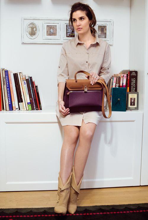 Zara shirt dress, Cinderella Store boots, Hermes bag www.cloudnumber9.ro