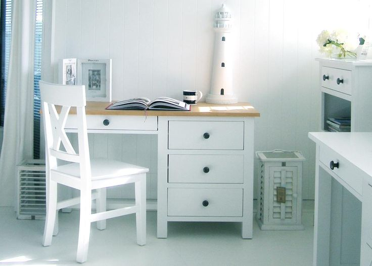 New England White Desk With Ash Top Home Office Furniture Pinterest Tops And Desks