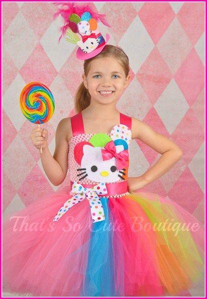 Hello Kitty Inspired Party Girl Tutu Dress