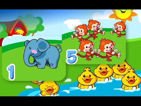 This is a fun way to teach babies, toddlers and kids to count (1 to 10) and they can learn common animal names too. The kids can learn using this free app ga...