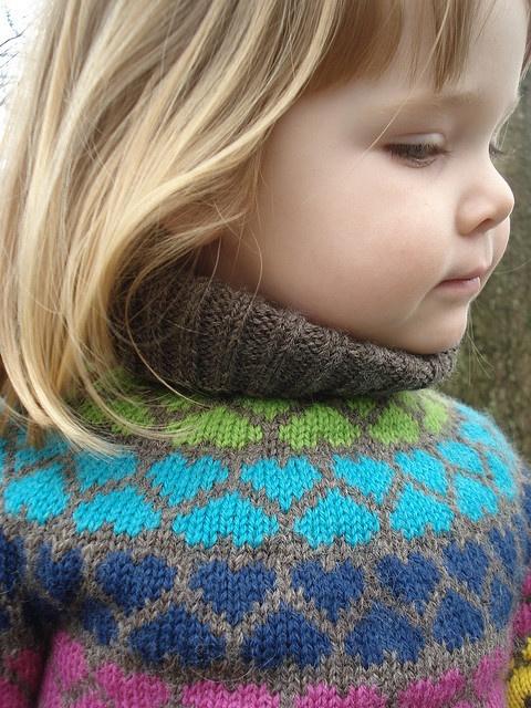 heart yoke pullover