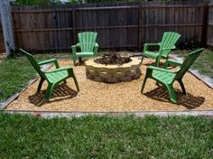 Simple Backyard Ideas : Outdoor, Outdoor Green Chairs For Simple Backyard  Using Cute Patio Ideas
