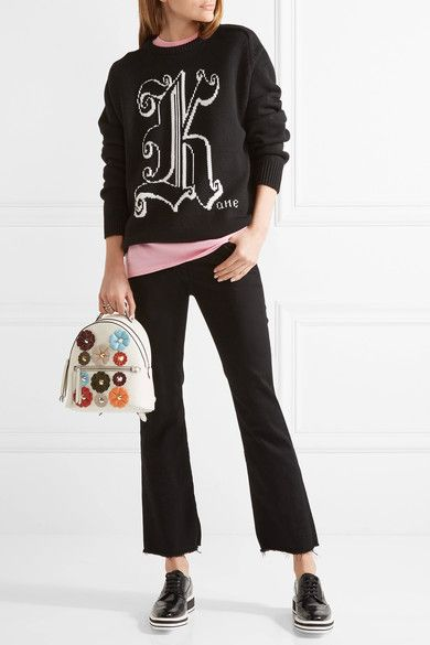 Fendi   Appliquéd leather backpack   NET-A-PORTER.COM