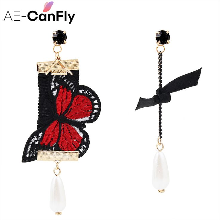 Cheap embroidery earrings, Buy Quality earrings for directly from China drop earrings Suppliers: hot cute butterfly embroidery drop earring for women elegant pear long earring Chinese national style ear jewelry gift 1A3027