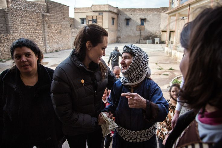 Angelina Jolie Photos: Angelina Jolie visits Ezidi refugee camp in Irak's Dohuk