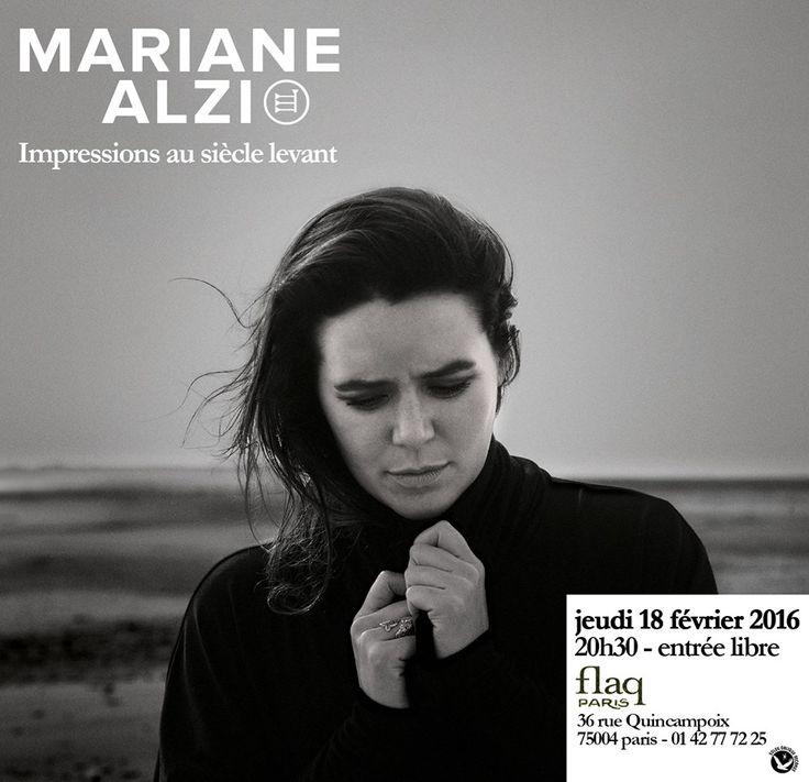 Ce soir à 20h30 36 rue Quincampoix #marianealzi #flaqparis #impressionsausièclelevant #concert #live #entréelibre