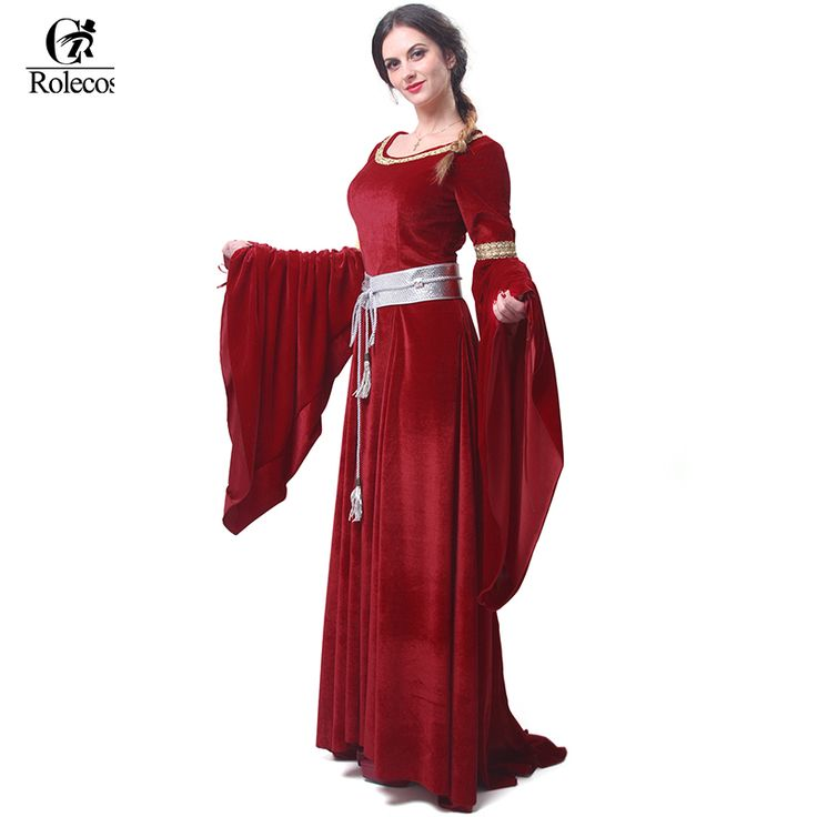 Brand Women's Red Blue Medieval Renaissance Victorian Evening Dresses Medieval Renaissance Costumes Ball Gown Ball Gowns Dresses