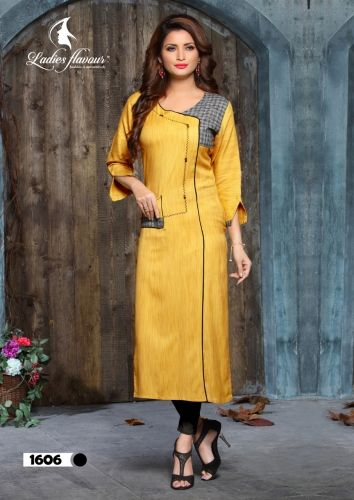 9e0533a119 Ladies Flavour Button Vol 2 Fancy Designer Fancy Khadi Rayon Readymade  Kurtis Collection at Wholesale Rate | Ethnic Export