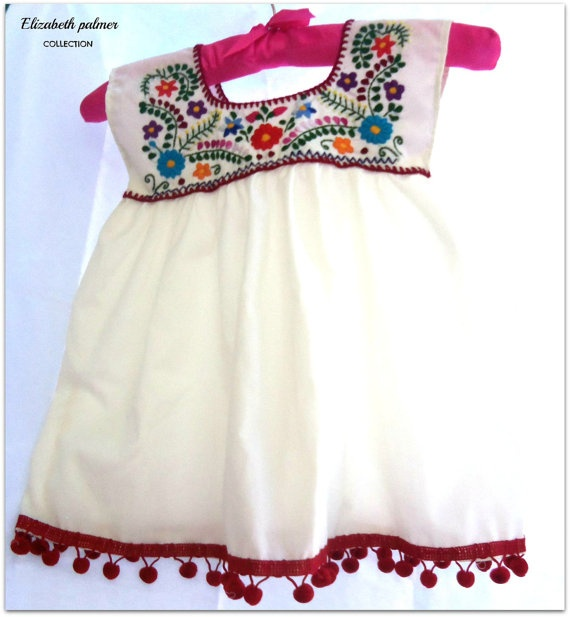 Handmade Embroidered Mexican Baby Tunic Dress Babies Someday Pinterest Mexicans Etsy And