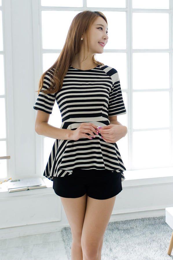 stripe peplum dress from Kakuu Basic. Saved to Kakuu Basic Dresses & OPs. Shop more products from Kakuu Basic on Wanelo.
