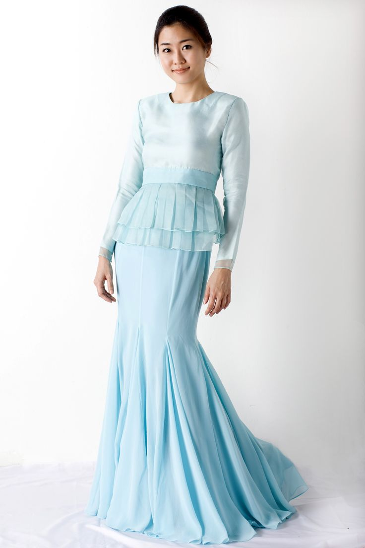 Peplum... This design is quite famous. And this is for my reception. But Im not going to use chiffon. I'll use songket. So it will look classic in malay style. :)