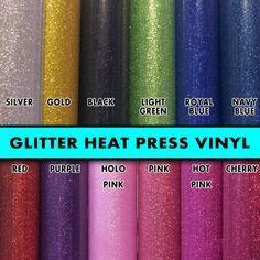 "4 rolls 8"" Glitter Flex Ultra Heat Press thermal transfer vinyl, T- Shirt Vinyl, for crafts or sign cutters"