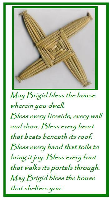 We made these every year at school for St. Bridget's day. Then we would take them home and replace the faded yellow one with a bright green fresh one on the kitchen wall .(1970's)