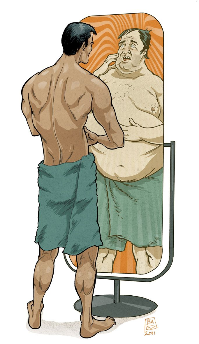 Body image issues don't revolve around just women. There is a social expectation for the men's body appearance of being muscular and matcho.
