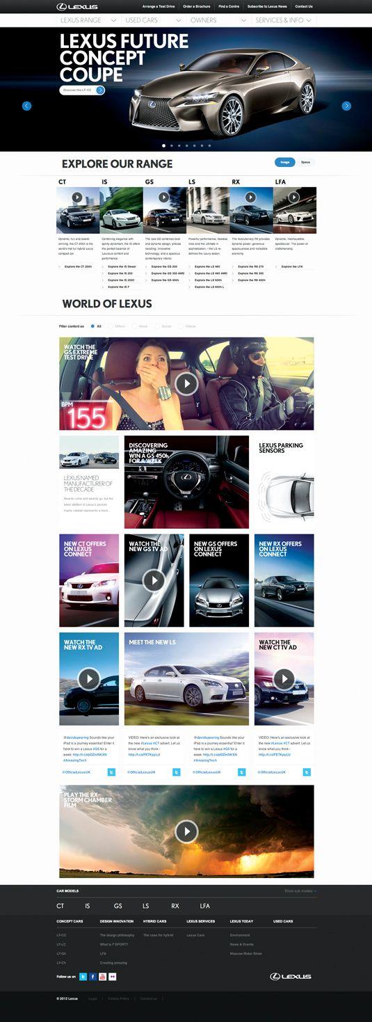 Lexus site drives web design further   Creative Bloq
