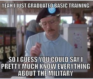 Basic Training to Everything that week after Encampment the new cadets.... Really