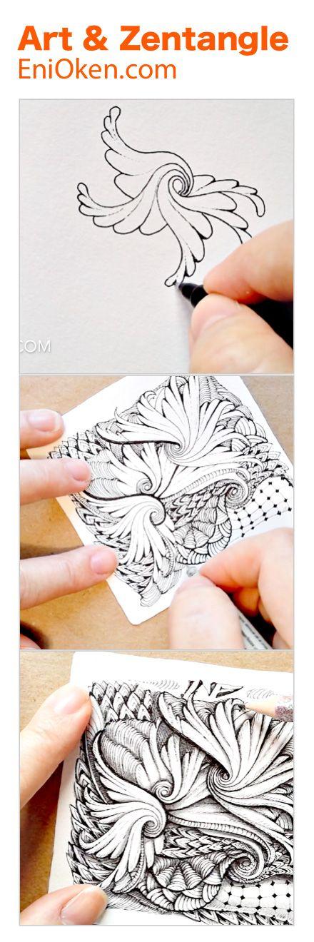 Learn how to draw beautiful Zentangle®️ art • enioken.com