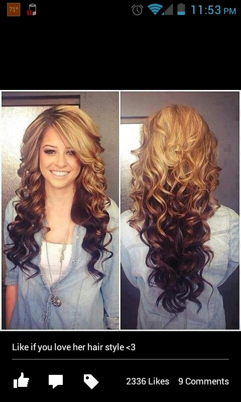 Blonde On Top Brown On Bottom And Spiral Curled Hair