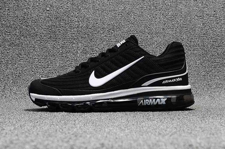 Nike Air Max 360 Running Women Men Shoes Black White sale