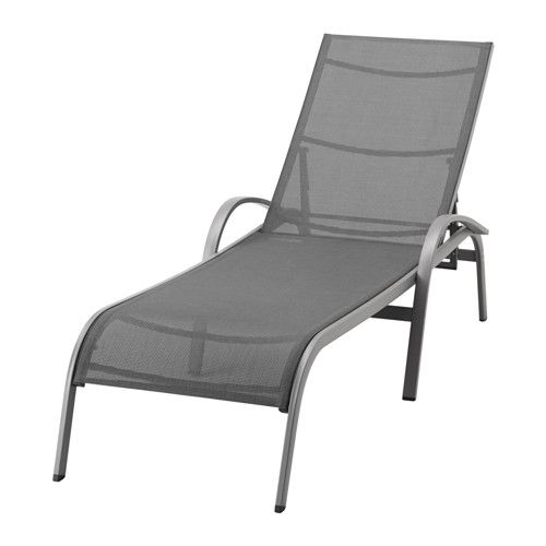 IKEA TORHOLMEN Sun lounger Grey The furniture is both sturdy and lightweight as the frame is made of rustproof aluminium.