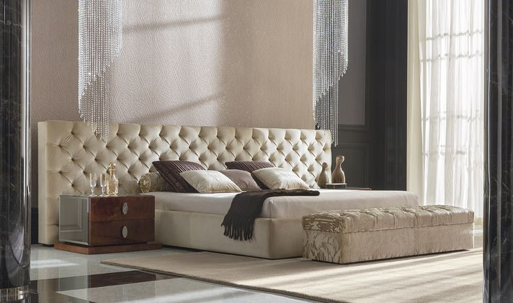 1000 images about bedroom on pinterest beds - Wit bed capitonne ...