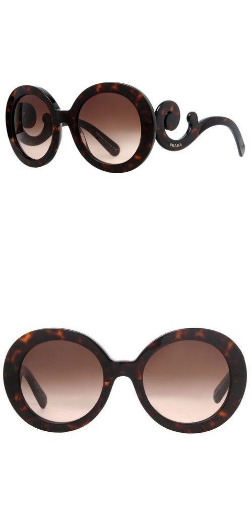 d027fcef12aa Sunglasses 45246: Prada Spr 27N 2Au-6S1 Brown Havana Baroque Swirl Women S Round  Sunglasses -> BUY IT NOW ONLY: $45 on eBay!